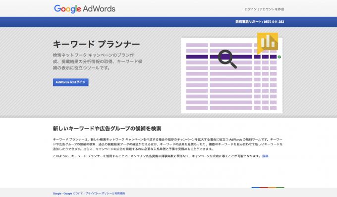 関連キーワードをすぐに調査できるgoogleキーワードプランナー